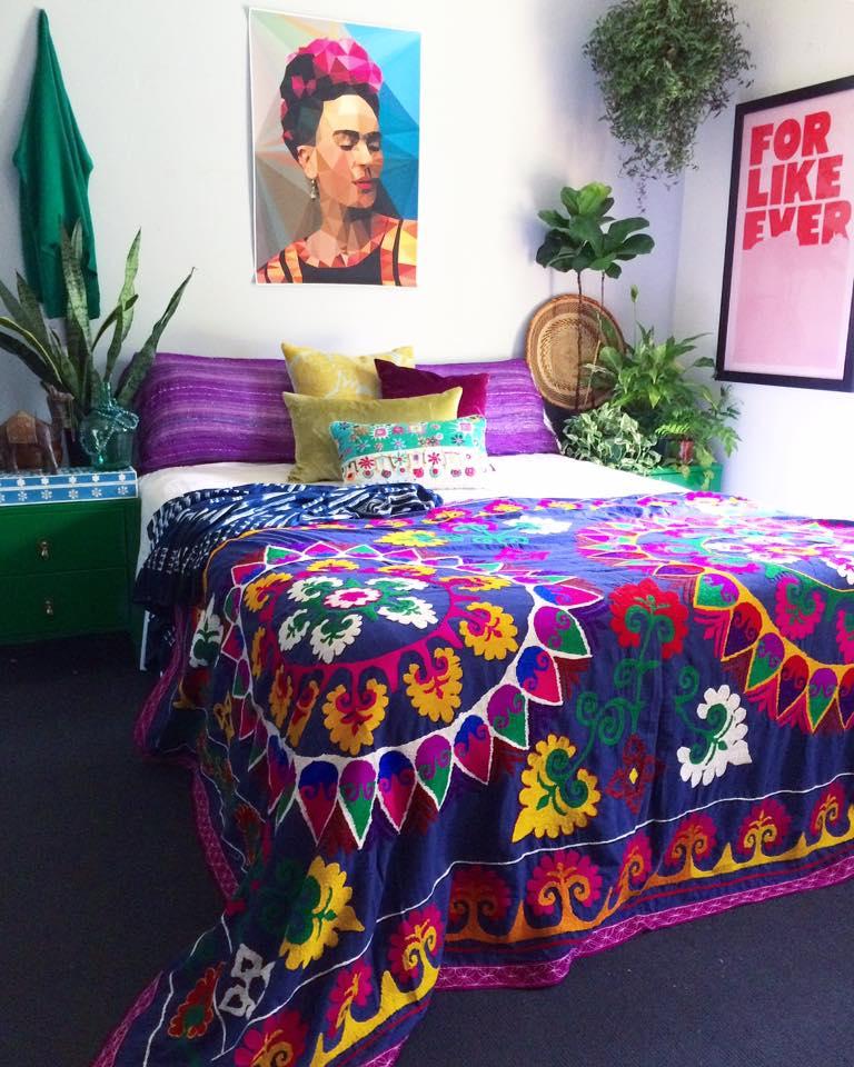 My Boho Bedroom - inspired by Frida Kahlo